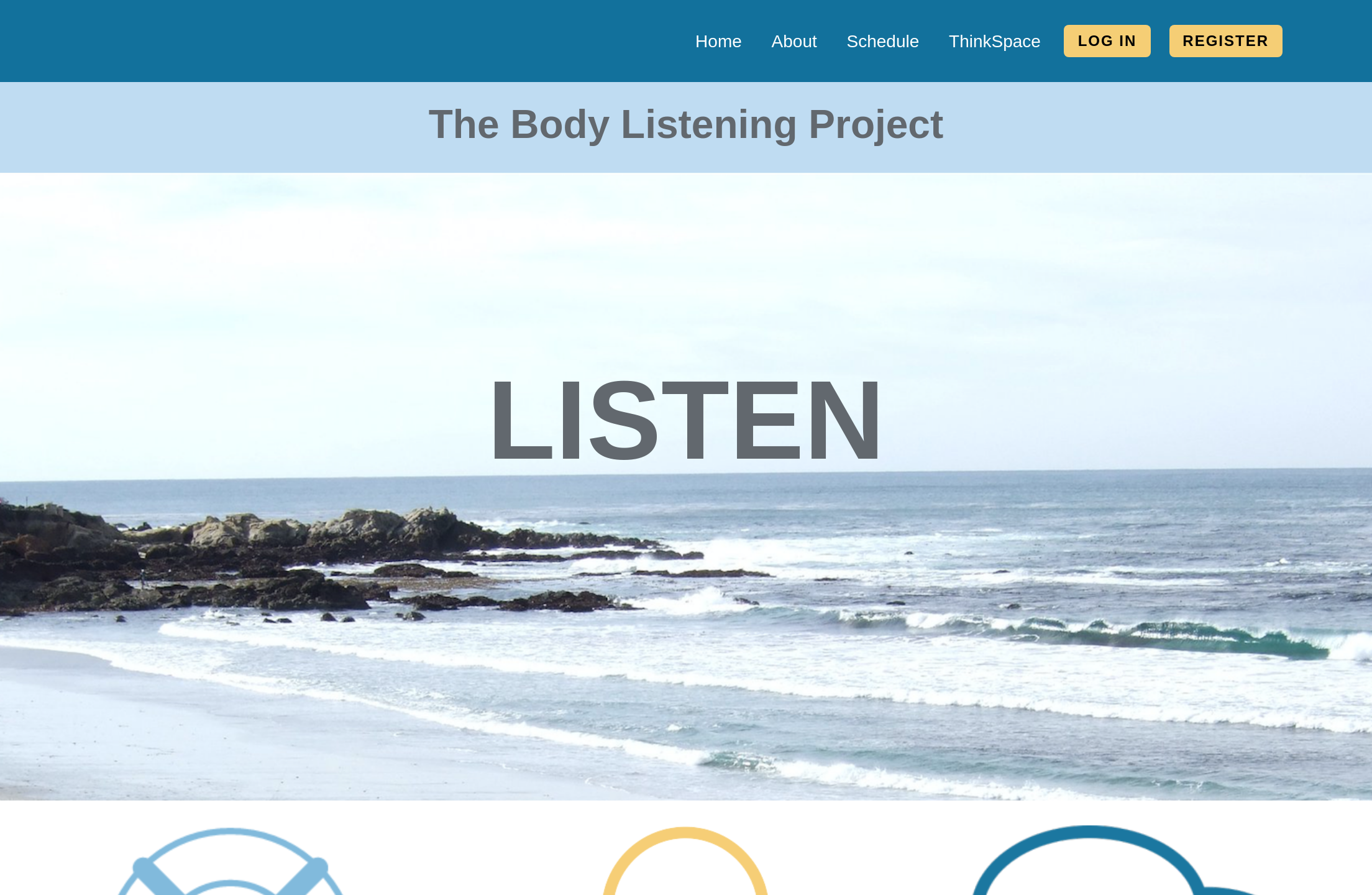 Body Listening Project website screenshot